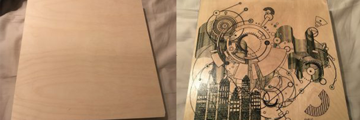 Printed film on wood dual images